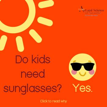 Sunglasses for Children - are they necessary? Yes. Click to learn more.